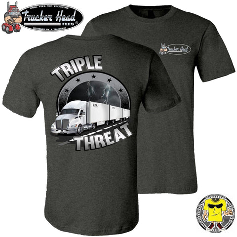 Image of Triple Threat LTL Truck Driver T-Shirt dgc