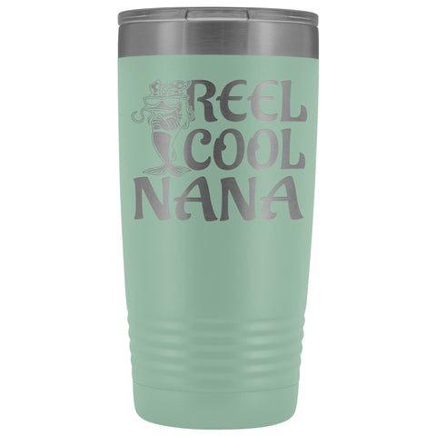 Reel Cool Nana Fishing 20oz Tumbler teal