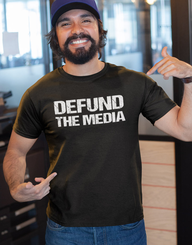 Defund The Media Funny Political Shirts