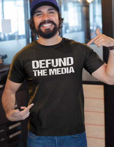 Image of Defund The Media Funny Political Shirts