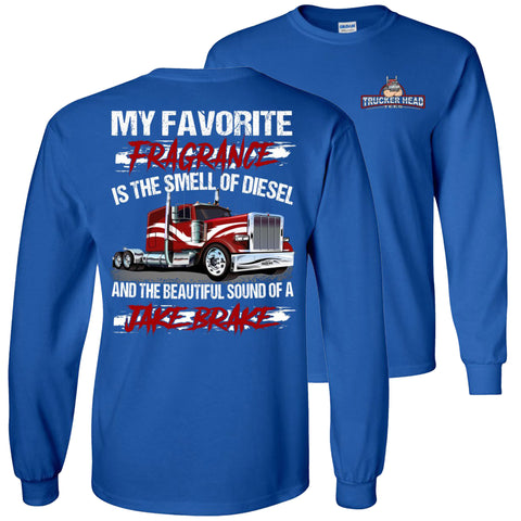 Image of Diesel And Jake Brake Long Sleeve Trucker Shirts royal