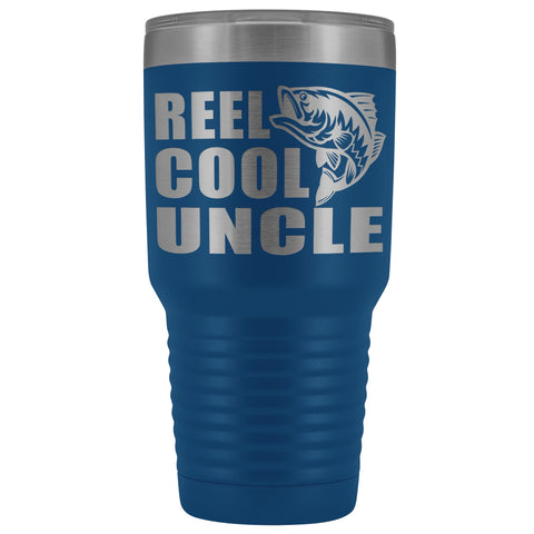 Image of Reel Cool Uncle 30oz. Tumblers Uncle Travel Mug blue