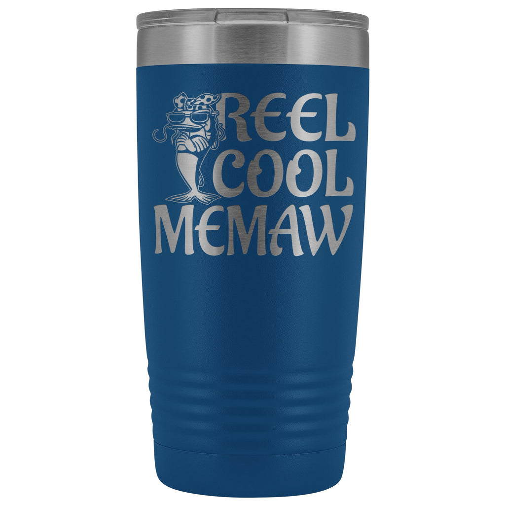 Reel Cool Memaw Fishing 20oz Tumbler blue