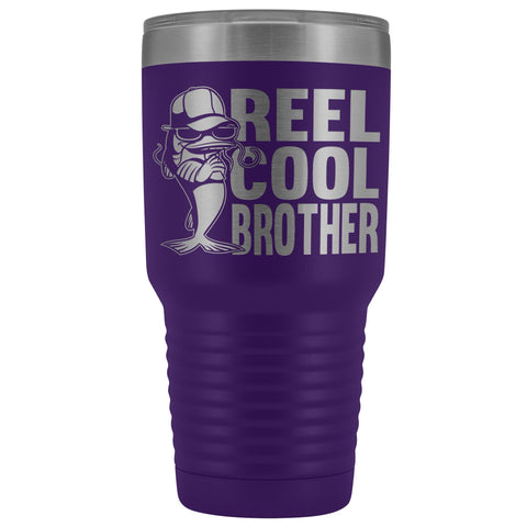 Image of Reel Cool Brother 30oz.Tumblers Brothers Travel Coffee Mug purple