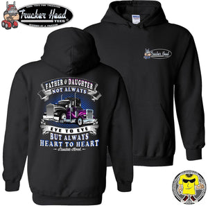 Father & Daughter Heart To Heart Truck Driver Hoodies pullover