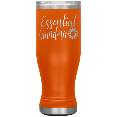 Essential Grandma Tumbler Cup, Grandma Gift Idea orange