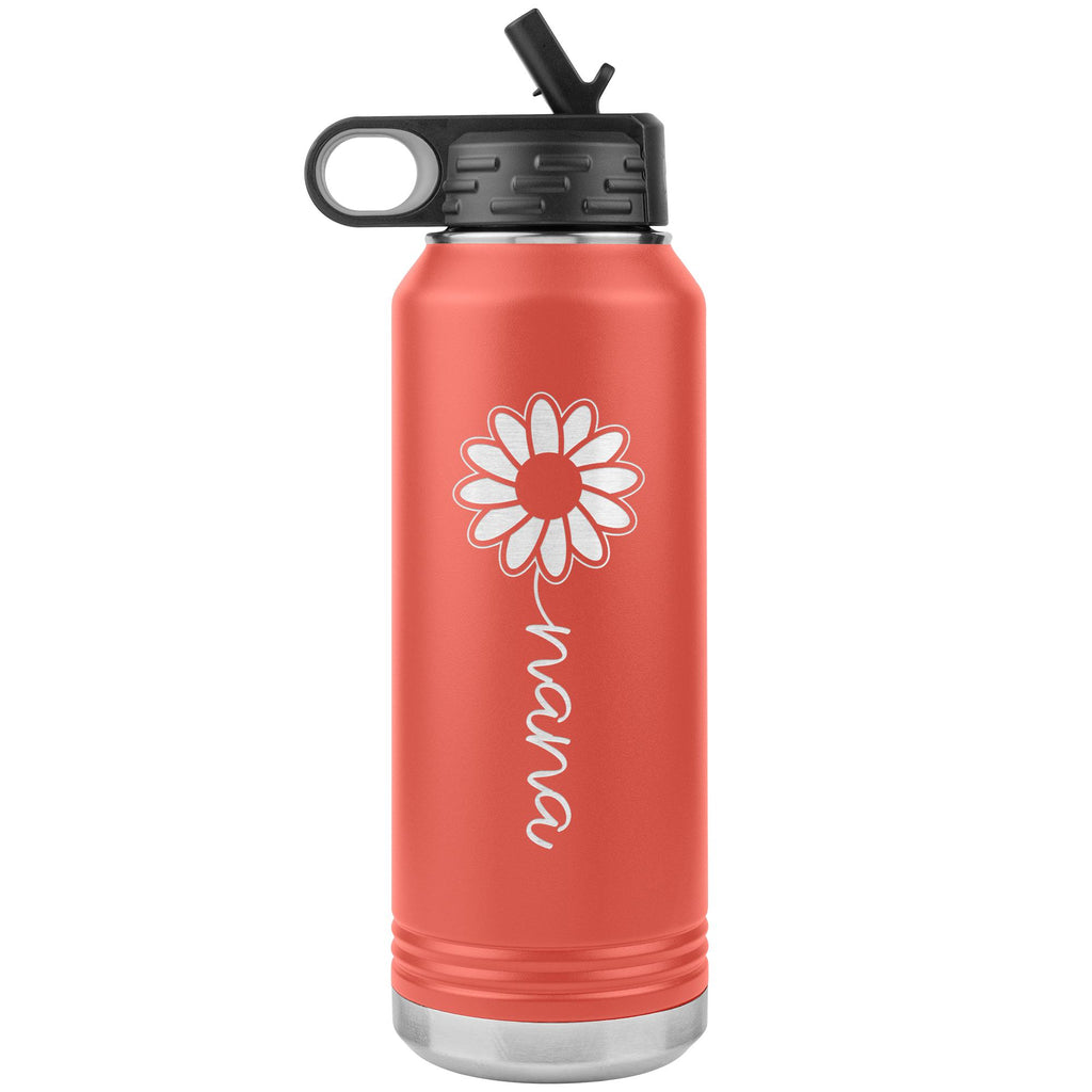 Sunflower Nana Water Bottle Tumblers coral