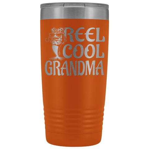 Image of Reel Cool Grandma Fishing 20oz Tumbler orange