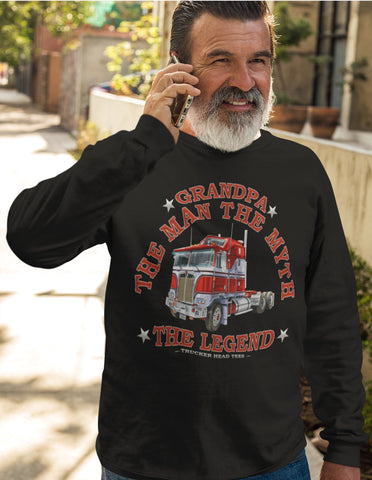 Image of Grandpa The Man The Myth The Legend Trucker LS Shirt