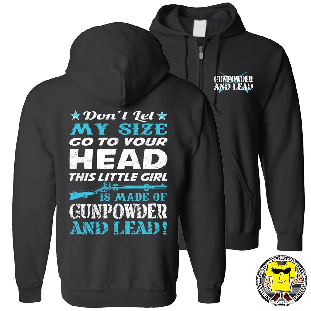 Gunpowder And Lead Hoodies for women zip up black