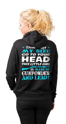 Gunpowder And Lead Hoodies for women mock up back