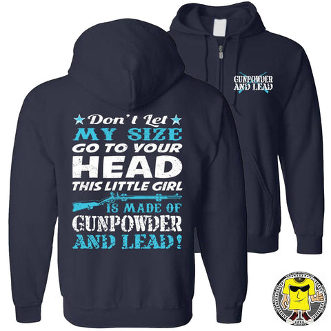 Gunpowder And Lead Hoodies for women zip up navy