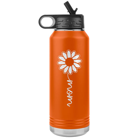 Sunflower Mom Water Bottle Tumblers orange