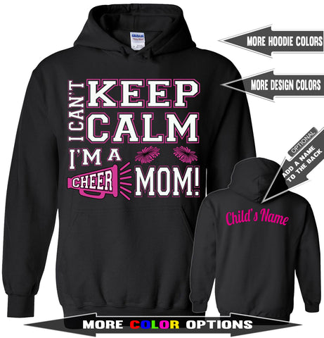 Image of I Can't Keep Calm I'm A Cheer Mom Hoodie
