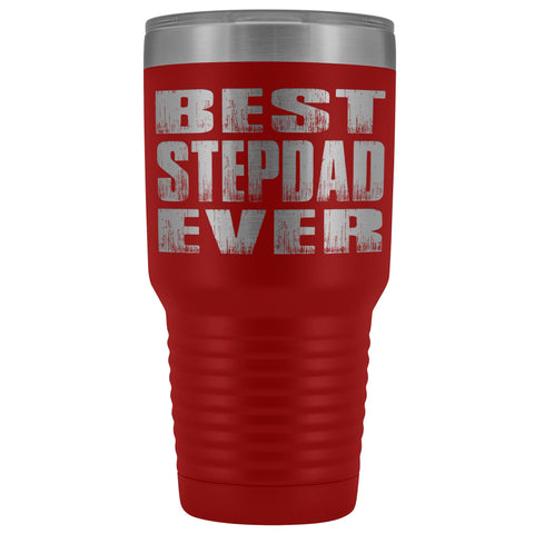 Best Stepdad Ever 30 Ounce Vacuum Tumbler red