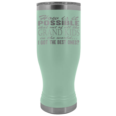 Image of Best Grand Kids Grandparent Tumblers teal