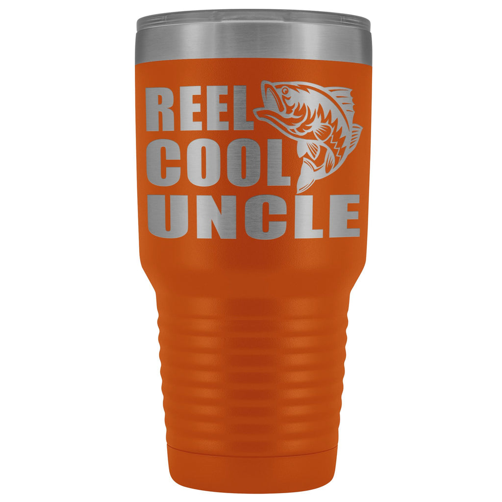 Reel Cool Uncle 30oz. Tumblers Uncle Travel Mug orange