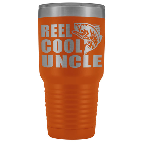 Image of Reel Cool Uncle 30oz. Tumblers Uncle Travel Mug orange