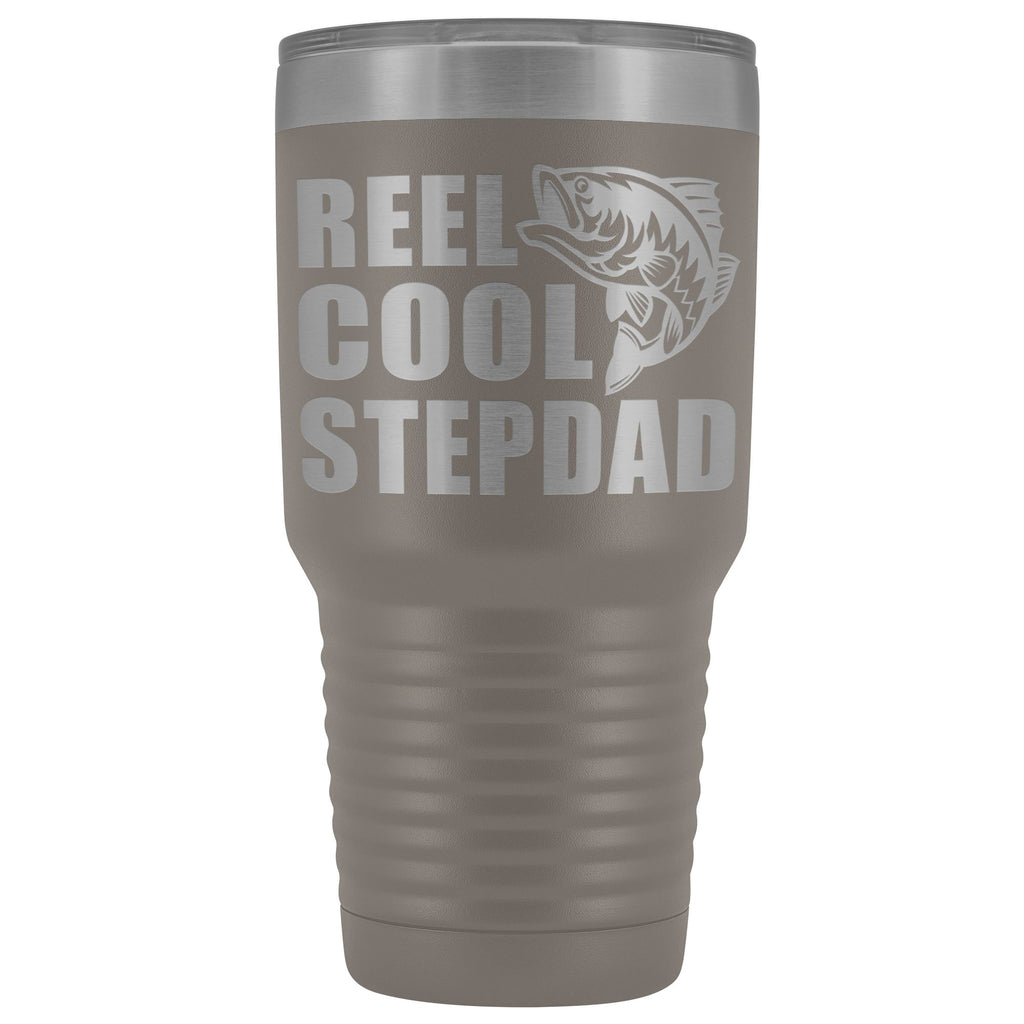 Reel Cool Stepdad 30oz. Tumblers Step Dad Travel Mug pewter