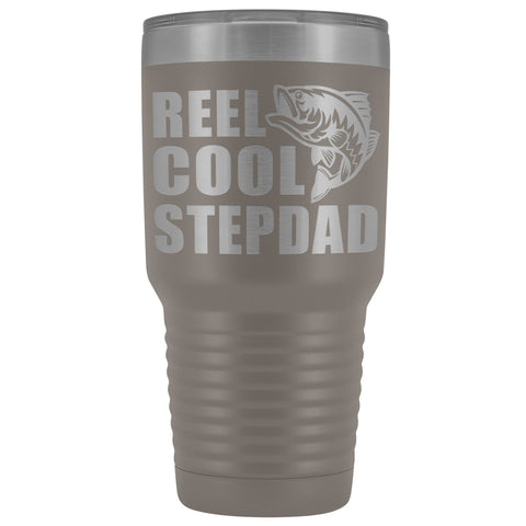 Image of Reel Cool Stepdad 30oz. Tumblers Step Dad Travel Mug pewter