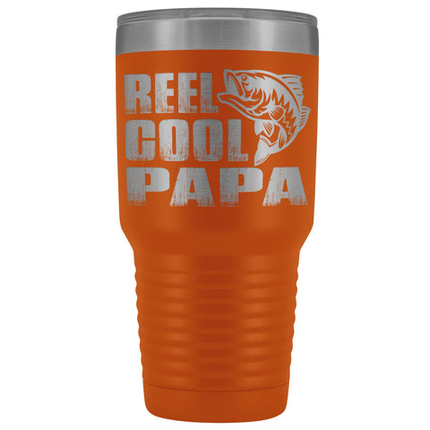 Image of Reel Cool Papa Fishing Papa Tumbler orange