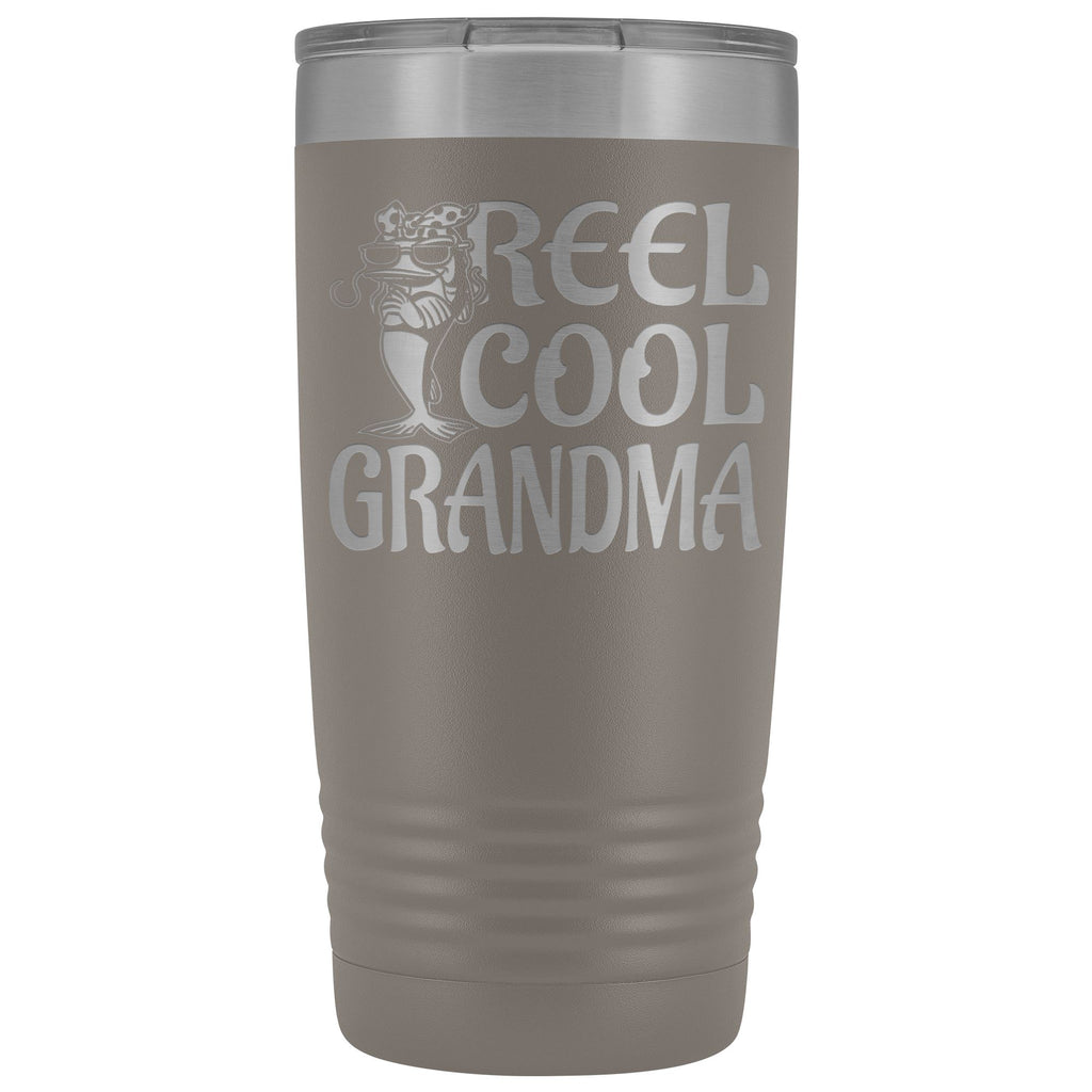 Reel Cool Grandma Fishing 20oz Tumbler pewter