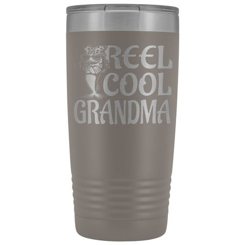 Image of Reel Cool Grandma Fishing 20oz Tumbler pewter