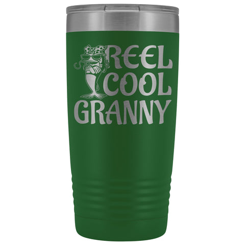 Image of Reel Cool Granny Fishing 20oz Tumbler green