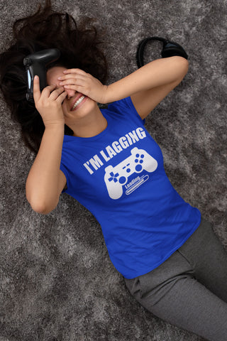 I'm Lagging Gamer Shirts For Guys & Girls funny gamer t shirts mock up