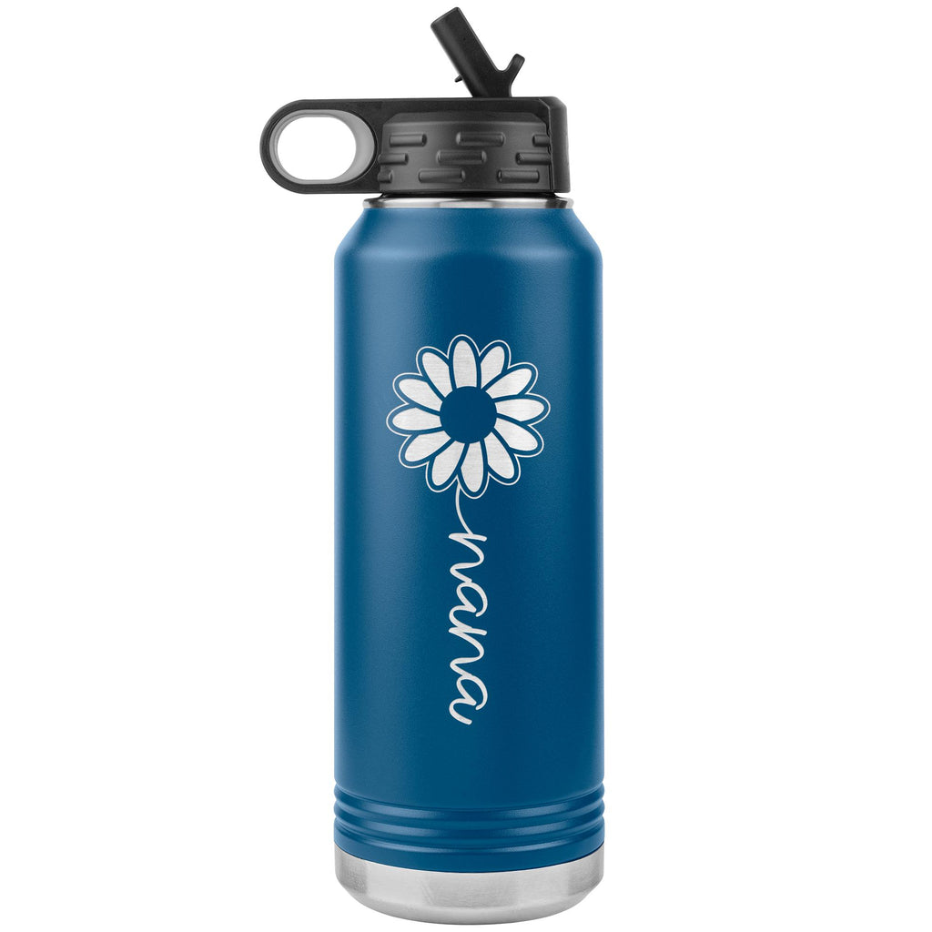 Sunflower Nana Water Bottle Tumblers blue