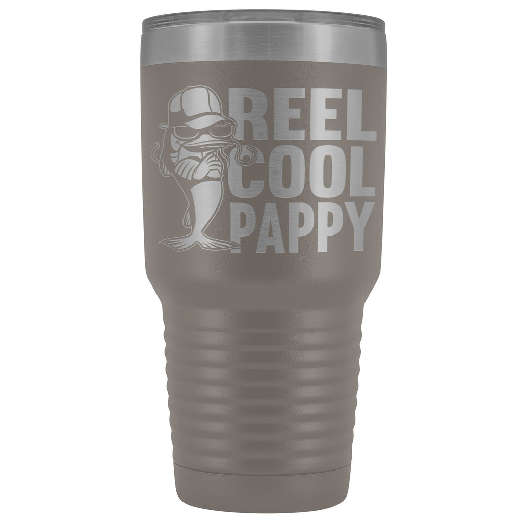 Reel Cool Pappy Fishing Pappy Tumbler pewter