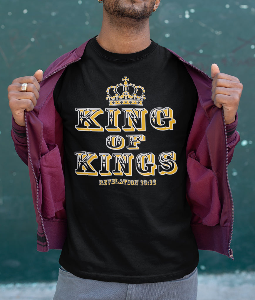 King Of Kings Christian T-Shirts man