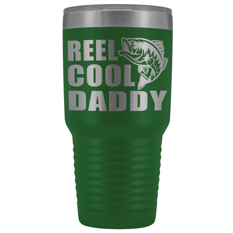 Image of Reel Cool Daddy 30oz.Tumblers Daddy Travel Coffee Mug green