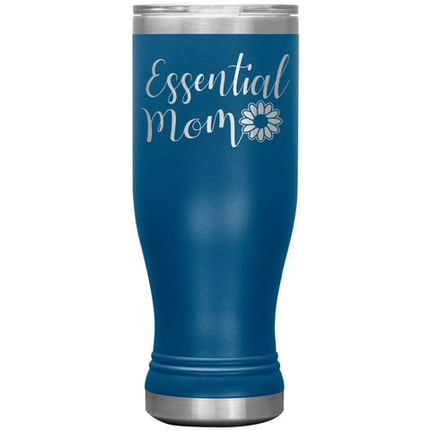Essential Mom Tumbler Cup blue
