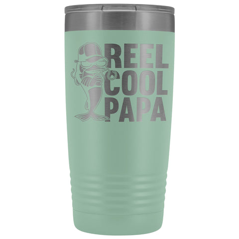 Reel Cool Papa Fishing Papa 20oz Tumbler teal
