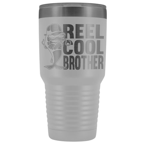 Image of Reel Cool Brother 30oz.Tumblers Brothers Travel Coffee Mug white