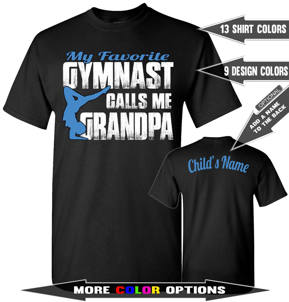 My Favorite Gymnast Calls Me Grandpa Gymnastics Shirts For Parents