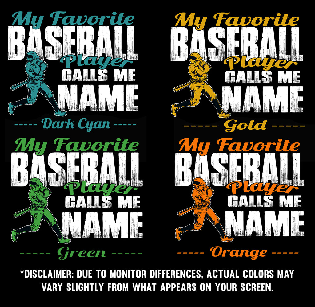 My Favorite Baseball Player Design Color Samples  2