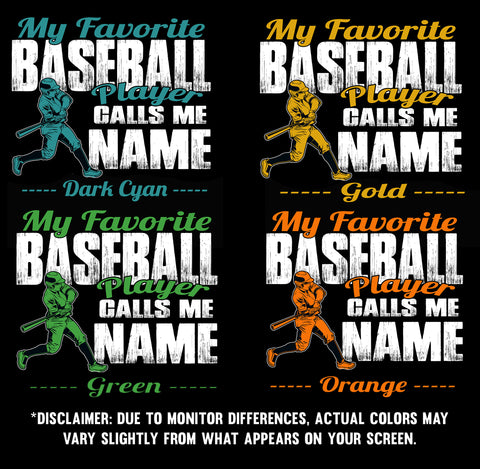 Image of My Favorite Baseball Player Design Color Samples  2