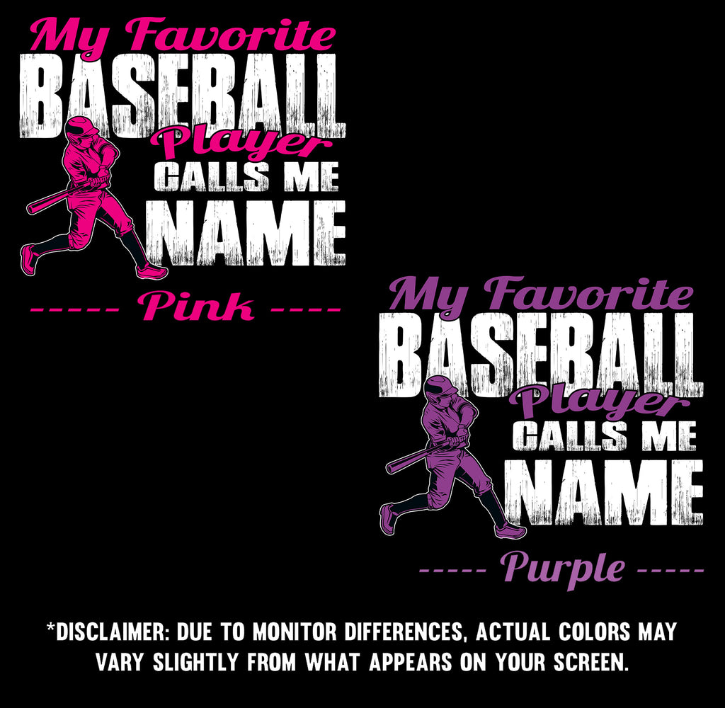 My Favorite Baseball Player Design Color Samples  3