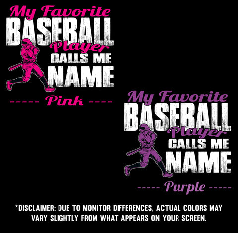 Image of My Favorite Baseball Player Design Color Samples  3