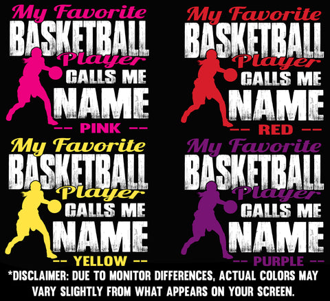 Image of My Favorite Basketball Player Design color samples 1 girl
