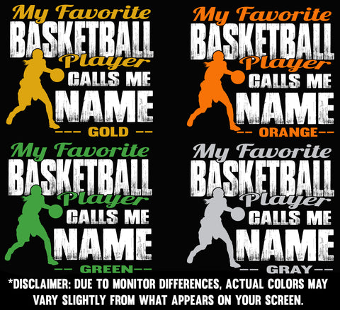 Image of My Favorite Basketball Player Design color samples 2 girl