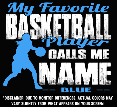 Image of My Favorite Basketball Player Design color samples 3 girl