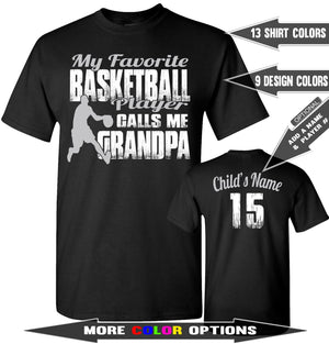 My Favorite Basketball Player Calls Me Grandpa | Basketball Grandpa Shirts