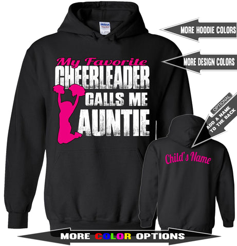 Image of My Favorite Cheerleader Calls Me Auntie Cheer Aunt Hoodie