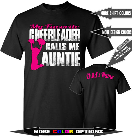 My Favorite Cheerleader Calls Me Auntie Proud Cheer Aunt Shirt