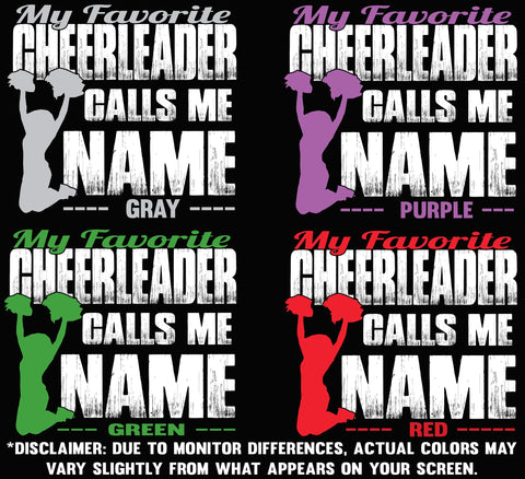 Image of My Favorite Cheerleader Calls Me design color options 2