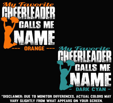 Image of My Favorite Cheerleader Calls Me Sample Name Colors 3