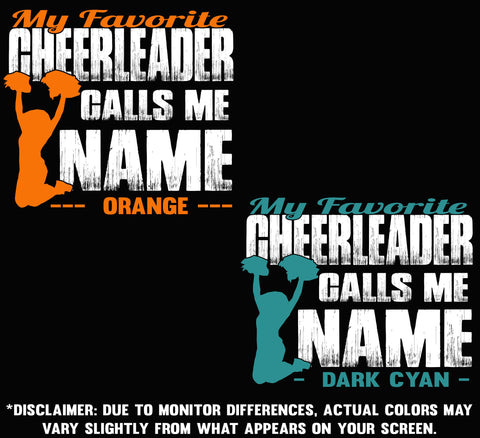 Image of My Favorite Cheerleader Calls Me Design Color Options 3